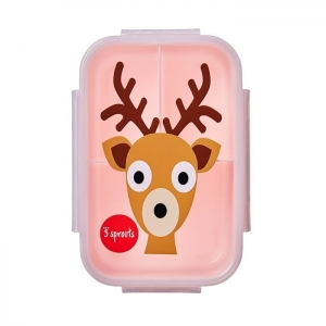 Lunchbox Bento Jeleń Pink / 3 Sprouts
